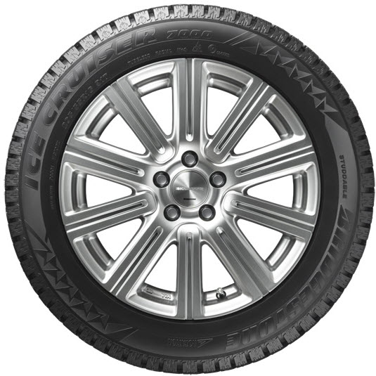 Фото шины Bridgestone Ice Cruiser 7000в анфас.